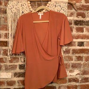 Leith wrap shirt